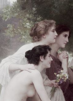 William-Adolphe Bouguereau, L'admiration  (detail)