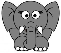 how to draw an elephant face easy