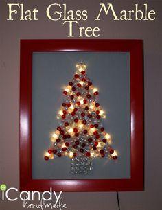 icandy handmade: (tutorial) Flat Glass Marble Tree