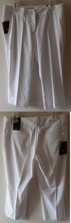 Pants 181148: Nwt Nike Golf Modern Rise Tech Womens Crop Golf Pants 8 White Msrp$80 -> BUY IT NOW ONLY: $37.99 on eBay!