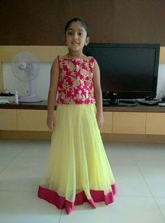 Frocks For Girls, Kids Frocks, Little Girl Dresses, Girls Dresses, Kids Lehenga Choli, Sarees, Kids Party Wear, Kids Wear, Kids Ethnic Wear