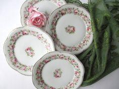 Antique Scherzer Mignon Bavarian Pink Rose Salad by thechinagirl