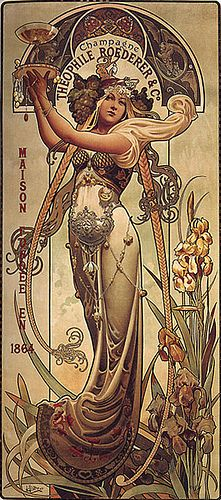 #vintage champagne Ad by Louis-Théophile Hingre 1864