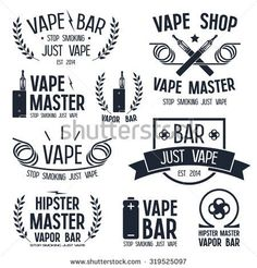 Shop http://BesteCigMade.com for the best Vaping products! Vape Shop Stock Images - Vape Logos @ Shutterstock