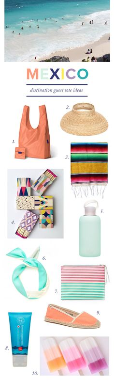 Mexico guest tote ideas with FunJet