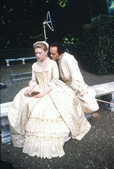Michelle Pfeiffer and John Malkovich in Dangerous Liaisons. Costume design by James Acheson. Michelle Pfeiffer, John Malkovich, Period Costumes, Movie Costumes, Dangerous Liaisons, 18th Century Costume, Fantasy Gowns, Film Inspiration, Madame