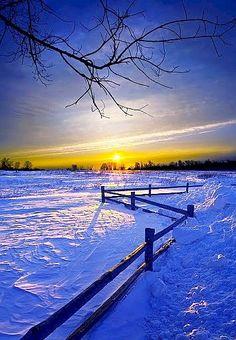 A beautiful Prairie Sunset in Saskatchewan, Canada