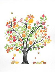 little birds in a tree