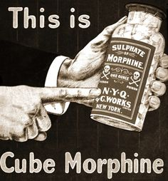 "Vintage advertisement, ""This is Cube Morphine"". Those were the days eh."