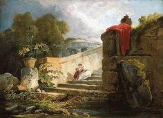 Hubert Robert. Scène dans le parc de la Villa Farnèse (1765)