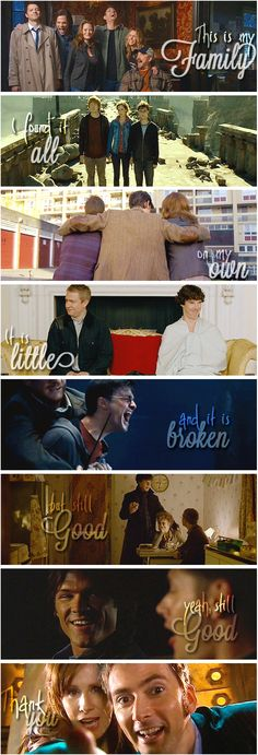 Supernatural, Harry Potter, Doctor Who, Sherlock, Lilo and Stitch.