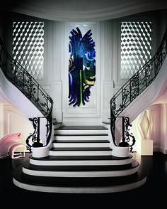 Le chic version pop À Paris, l'architecte Charles Zana a conçu un duplex tout en pulsations graphiques, entre écrans animés, murs colorés et œuvres d'art bien agencées.