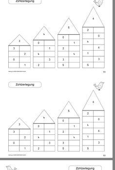 Wiederholung - New Site Kindergarten Math Worksheets, Teaching Math, Math Games, Math Activities, Kindergarten Anchor Charts, Math Charts, Daily Math, Numbers Preschool, 2nd Grade Math