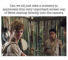 """I bet he's trying 2 connect with the fangirls<<I love this caption for some reason. Like that one dude when the other dude went """"I got a jar of dirt! I got a jar of dirt! Maze Runner Funny, Maze Runner The Scorch, Maze Runner Thomas, Maze Runner Movie, Maze Runner Trilogy, Maze Runner Series, The Scorch Trials, Fandoms, Thomas Brodie Sangster"""