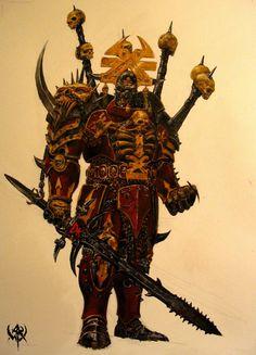 an amazing Khorne Warrior from Warhammer Online.