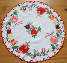 """Items similar to Very nice colorful table top with hungarian """"Kalocsai"""" embroidery on Etsy Vintage Jewelry Crafts, Hungarian Embroidery, Blog Planner, Blogger Tips, Blogger Templates, Jewelry Organization, Blog Designs, Personalised Gifts, Media Design"""