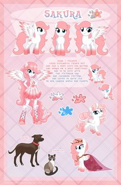 Sakura - ultimate reference guide by LessaNamidairo on DeviantArt P.S This pony can be adopted My Little Pony Drawing, My Little Pony Comic, My Little Pony Pictures, Mlp My Little Pony, My Little Pony Friendship, Fluttershy, Equestria Girls, Mlp Adoption, Imagenes My Little Pony