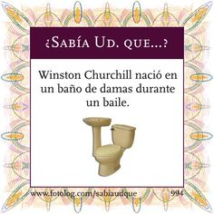 Sabias que? [Actualizado] [Megapost] - Taringa! Did you know Winston Churchill was born in a ladies restroom during a dance?