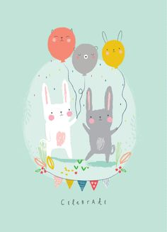 New baby drawing illustration surface pattern ideas Happy Birthday Cards, Birthday Greetings, Birthday Wishes, Happy Birthday Bunny, Scrapbook Bebe, Happy Easter Everyone, Celebrate Good Times, Baby Drawing, Happy Friends