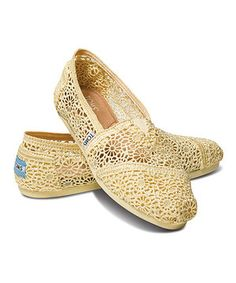Breezy and stylish. This is the crochet version of the original TOMS shoe that started it all. Constructed like the traditional Argentinian alpargata, this slip-on pair features the signature TOMS toe-stitch, elastic V goring for easy on and off, and a comfortable, cushioned suede insole. And with every pair you purchase, TOMS will give a pair of new shoes to a child in need. One for One.® Size note: TOMS run true to size. If you're typically in-between sizes, TOMS recommends ordering…