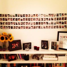 Instax mini Polaroid wall