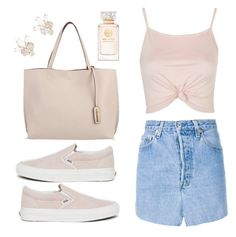 """""""Pastel spring feels"""" by liberty-s ❤ liked on Polyvore featuring Topshop, Vetements, Vans, 7 Chi, Tory Burch, Lady Fox, vans, jeans, jeanskirt and topshop"""