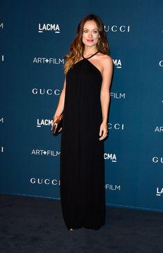 Olivia Wilde wearing Gucci Broadway Metal Frame Evening Bag