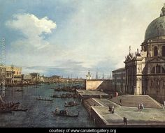 The Grand Canal At The Salute Church  (Giovanni Antonio Canal) Canaletto