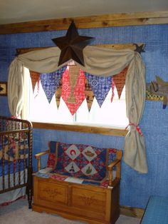Cowboy Baby Nursery---Could use pink and brown to turn this girly. @Alaina Gossett