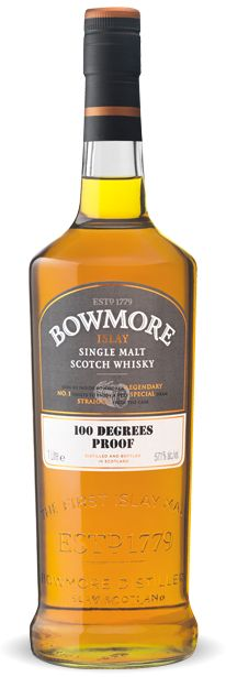 Bowmore 100 Degrees Proof Distilled and left to mature at its own sedate pace, this perfectly balanced whisky is the genuine article. With a high alcohol strength of 57.1% ABV and non chill-filtered, it's as though you've been invited into the Vaults to fill your own bottle straight from the cask.