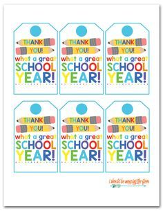 Free Printable End-of-School Gift Tags - gifts for boyfriend Teacher Gift Tags, Teacher Thank You, Teacher To Student Gifts, Teacher Stuff, Free Printable Gift Tags, End Of School Year, High School, School Signs, Teacher Appreciation Week