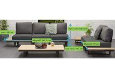 margarita-luksusowy-zestaw-wypoczynkowy-ze-stali-nierdzewnej-meble-ogrodowe-nowoczesne-wymiary Outdoor Sectional, Sectional Sofa, Best Outdoor Furniture, Margarita, Outdoor Decor, Home Decor, Modular Couch, Decoration Home, Room Decor