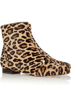 5d3a89f6984 Charlotte Olympia - Puss In Boots leopard-print calf hair ankle boots
