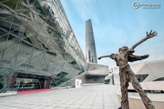 Guangzhou Opera House and IFC in the background. Crying freedom by Day by Oby.Photography on Overseas Chinese, Visit China, Guangzhou, All Over The World, Opera House, Crying, Freedom, Day, Photography