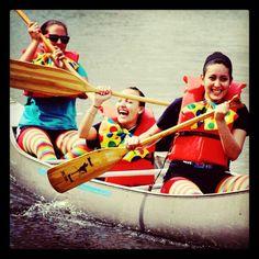 Girls rocking Founders Day canoe challenge @Lynn University