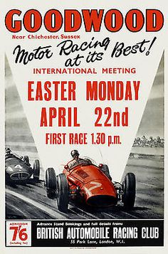Poster for 1957 Goodwood Easter Monday race