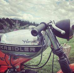 German oldschool 50ccm #caferacer #kreidler #moped #alpine #motorcycle #oldskool #50ccm #allgäu #alpeachterbahn #friends #florett #mopedgarage #alpenblitzer #racer #bavaria #germany #classicbikes #caferacerstyle