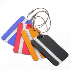 Aluminium Metal Travel Luggage Baggage Suitcase Address Tags Label Holder Suitcase Identity Name Labels outdoor tool