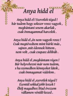 előtted az élet születésnapi versek - Google keresés Sad Quotes, Inspirational Quotes, In My Feelings, Mom And Dad, Quotations, Verses, Diy And Crafts, Poems, Father