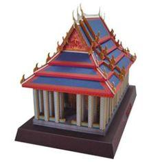 Thai Tempel des Smaragd,Architektur,Papiermodelle,Asien / Ozeanien,Thailand,Buddhismus,Bangkok,Smaragd,Buddhistischer Tempel