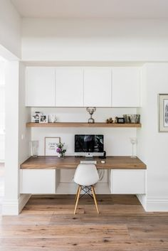 Kitchen renovation brighton after downstairs study williams cabinets Office Nook, Home Office Space, Home Office Decor, Home Decor, Small Office, Office Ideas, Kitchen Office, Desk Nook, Office Setup