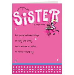 21 birthday card sister pinterest bookmarktalkfo Images