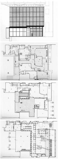 AD Classics Maison de Verre   Pierre Chareau + Bernard Bijvoet - plan architecturale de maison