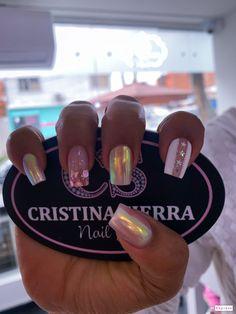 French Manicure Designs, Short Nail Designs, Fall Acrylic Nails, Glitter Nails, Gel Nail Polish, Gel Nails, Manicure Tips, Elegant Nails, Short Nails