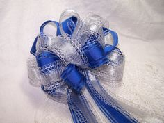 silver and blue wedding decorations - Google Search