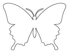 butterfly pattern use the printable outline for crafts creating stencils scrapbooking and