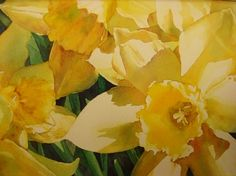 Daffodils, color study by Tammy Meeske Watercolor ~ 5 x 7