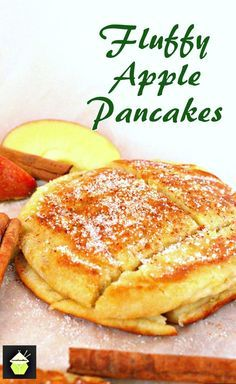 Fluffy Apple Pancakes. Delicious, quick and easy recipe and these are certainly fluffy! Serve warm with a sprinkling of sugar and a dash of cinnamon.