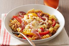 Sausage & Peppers with Rotini Pasta.  I love how they have a lighter variations in the recipe also.