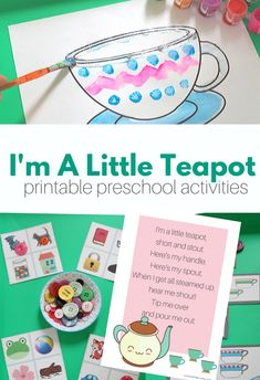 Nursery Rhyme Lesson - I'm A Little Teapot - No Time For Flash Cards